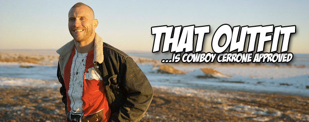 I bet you never thought you would see Cowboy Cerrone and his dog surf together in harmony