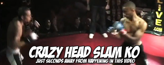 Watch the first and only accidental MMA suplex KO you will ever see in your life