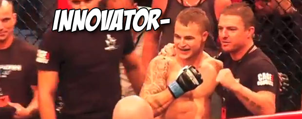 This fighter knocks out and chokes out his opponent in one swift motion