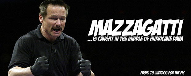 Dana White spent 9 minutes of his life talking about Steve Mazzagatti, so spend 9 minutes of your life listening