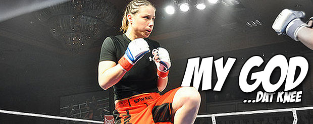 Your Monday is nothing without watching this flying knee KO from Nina Ansaroff