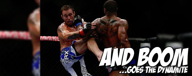 Don't forget, this spinning back fist actually happened at UFC 161