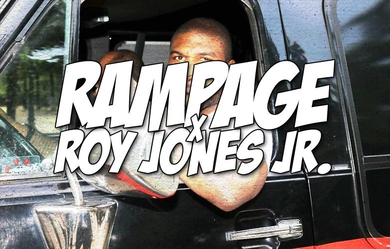 Rampage Jackson Vs Roy Jones Jr Inside Of A Boxing Ring By The