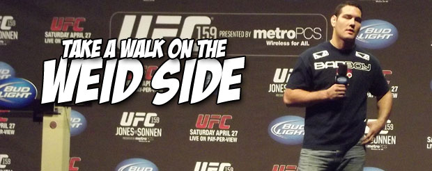 Check out Chris Weidman's refrigerator note about Anderson Silva