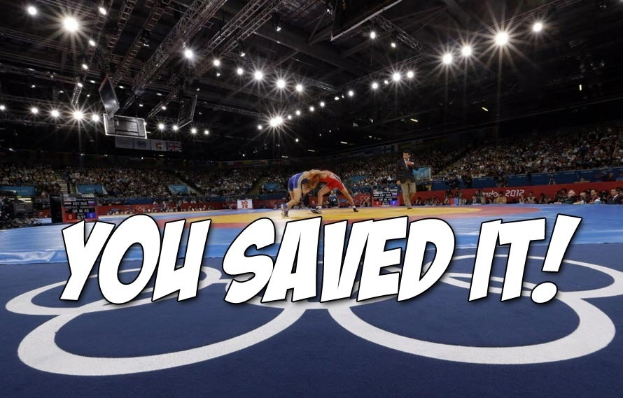 Congratulations, you guys just saved Olympic wrestling