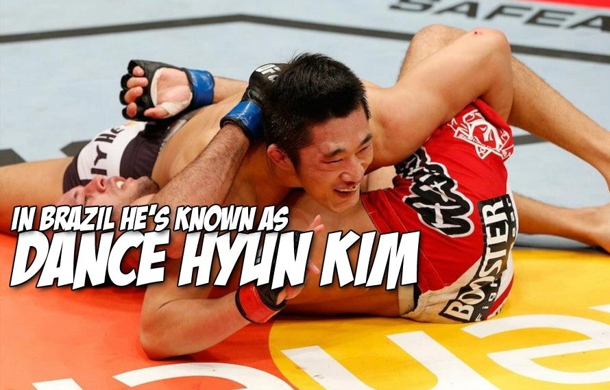 Dong Hyun Kim made it to Brazil for UFC Fight Night 29, and all he wants to do is dance