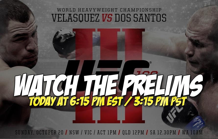 Watch the UFC 166 prelims TODAY at 3:15pm PST / 6:15pm EST right HERE!