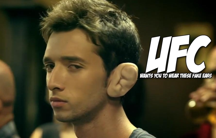 In Africa, UFC made cauliflower ears that doubles as radios, yeah it's pretty weird…