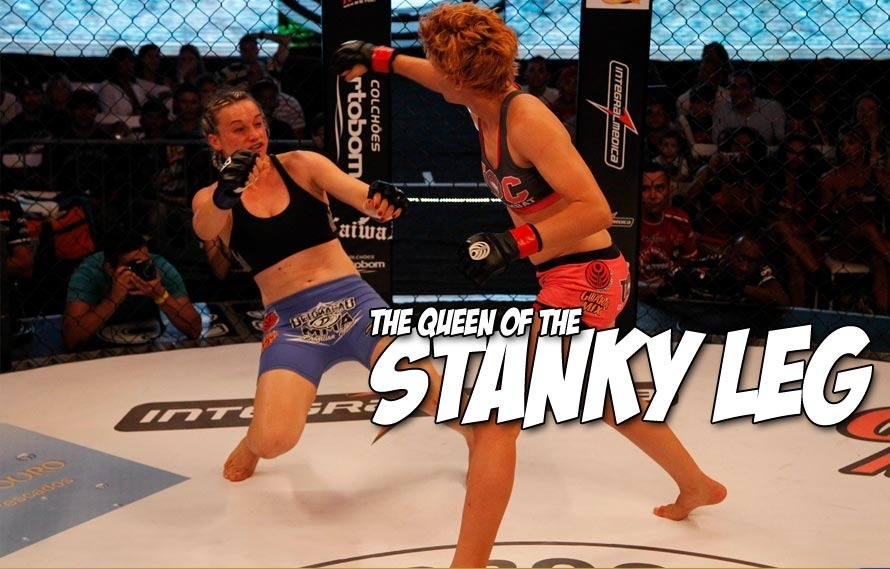 Larissa Moreira Pacheco made her opponent pull of the stankiest of the stanky leg at Jungle Fight 63
