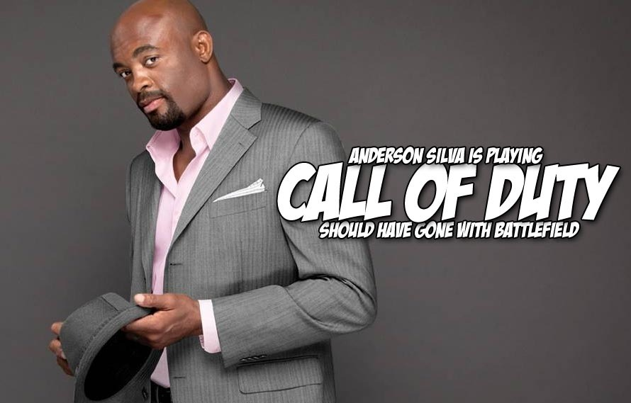 Anderson Silva has been addicted to Call of Duty since he's been out with an injury