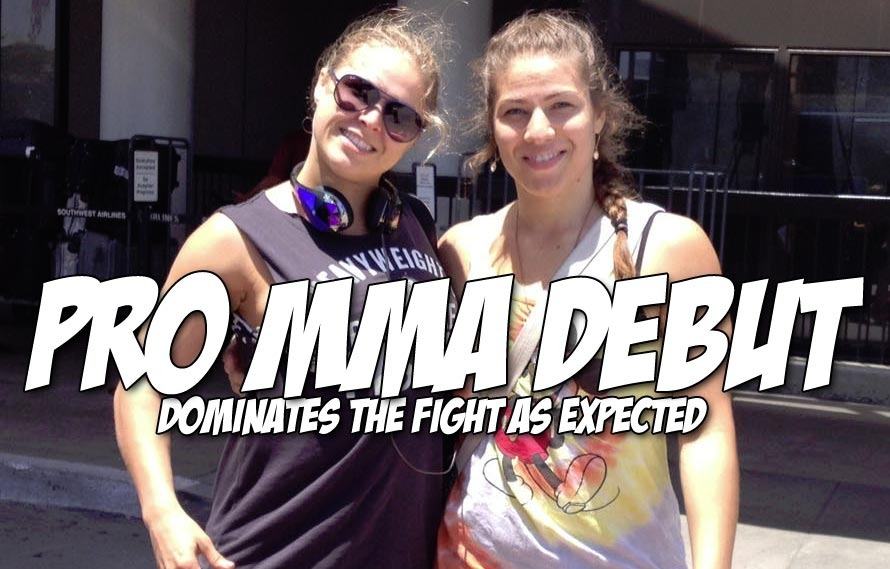 Stop, drop, and let's watch Marina Shafir's pro MMA debut