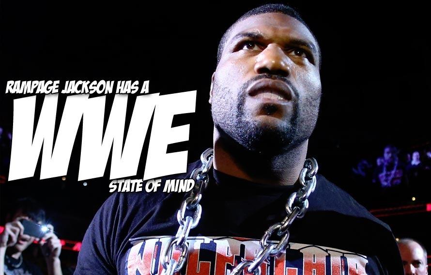 You've never seen Rampage Jackson and Mayhem Miller do professional wrestling, until today