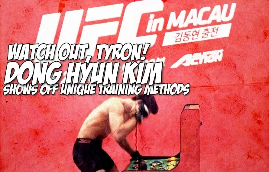 You guys, Dong Hyun Kim has some weird training methods for Tyron Woodley