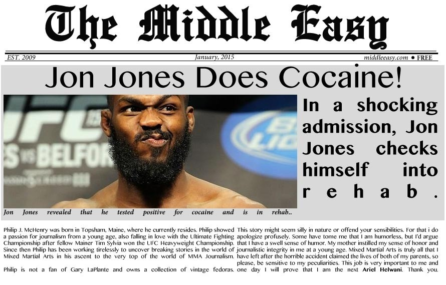 UPDATED: Jon Jones Uses Cocaine, Enters Rehab, UFC Responds