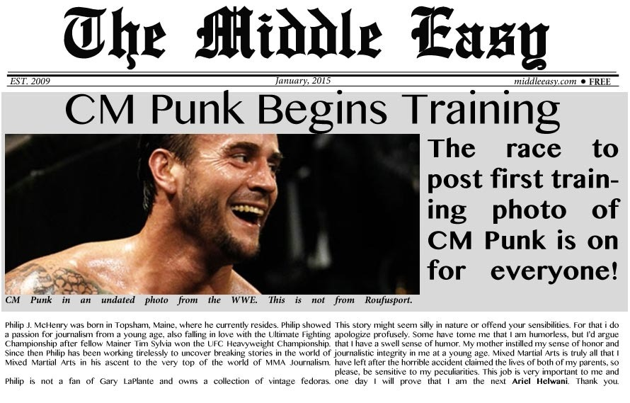 Everyone Races to Post Photo of CM Punk's First Day Before Each Other