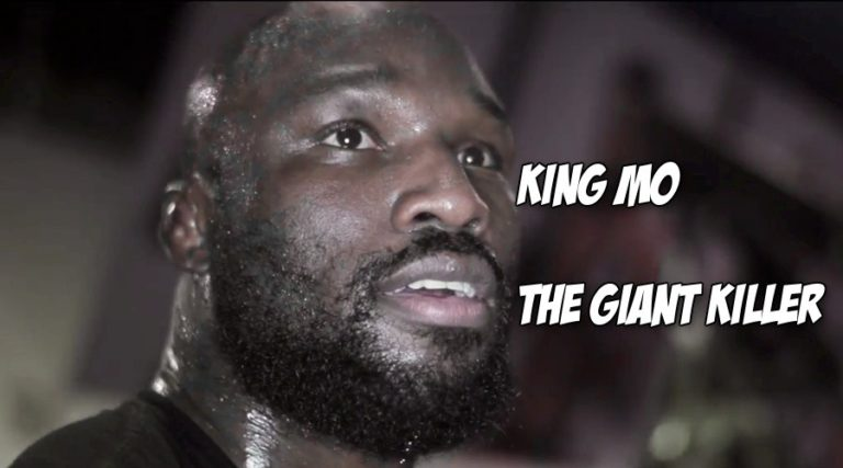 At Bellator 134 King Mo chopped down Cheick Kongo, then Kongo got on the mic to cut a promo