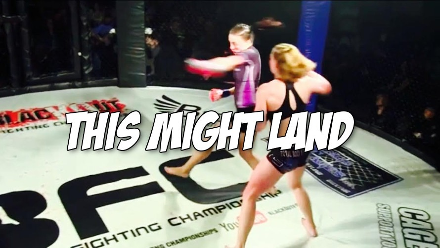 Video: A cold blooded spinning backfist KO landed in this women's MMA fight