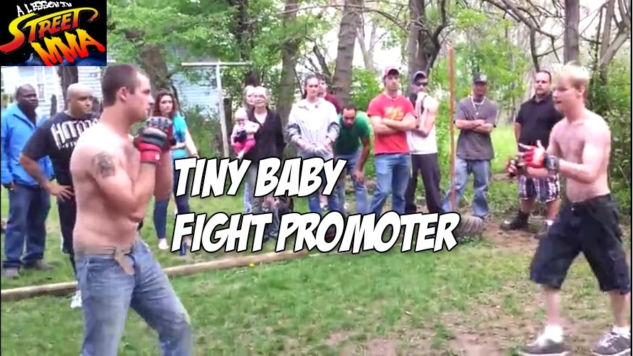 A Lesson in Street MMA: bring a baby to a fight and get put to sleep