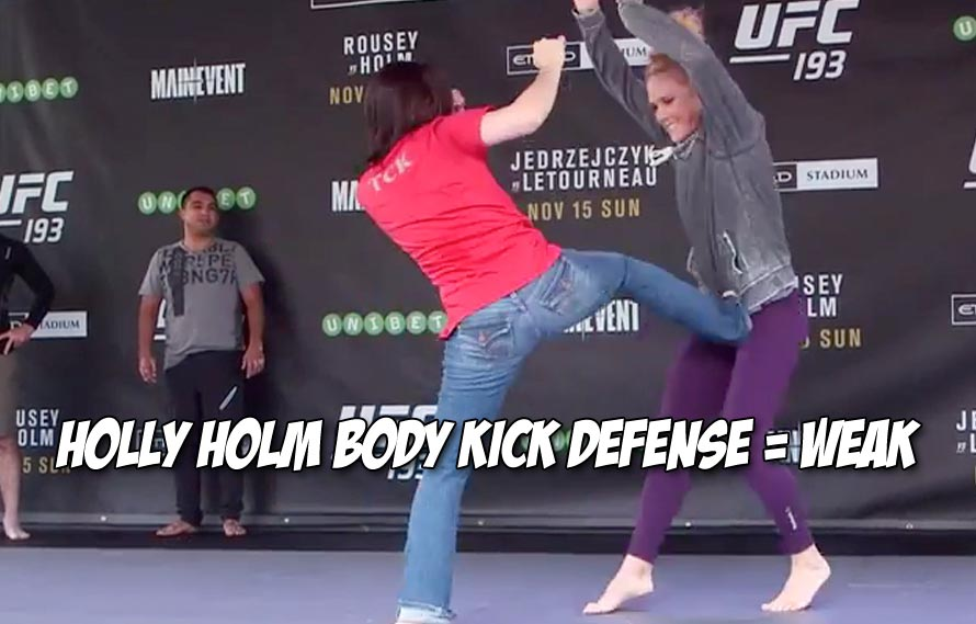 Video: Holly Holm's open workout shows obvious flaw in body kick defense