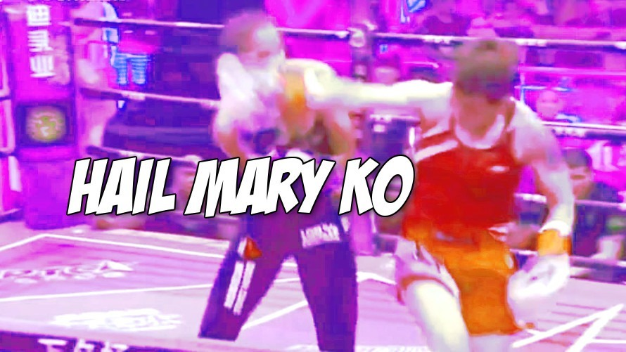 Replay: Gong Yanli lands a timely spinning backfist KO in the last second of her fight