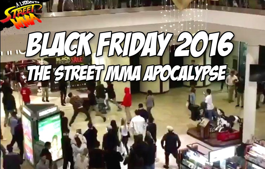 A Lesson in Street MMA: All the 2016 Black Friday shopper vs. shopper Street MMA fights in one post
