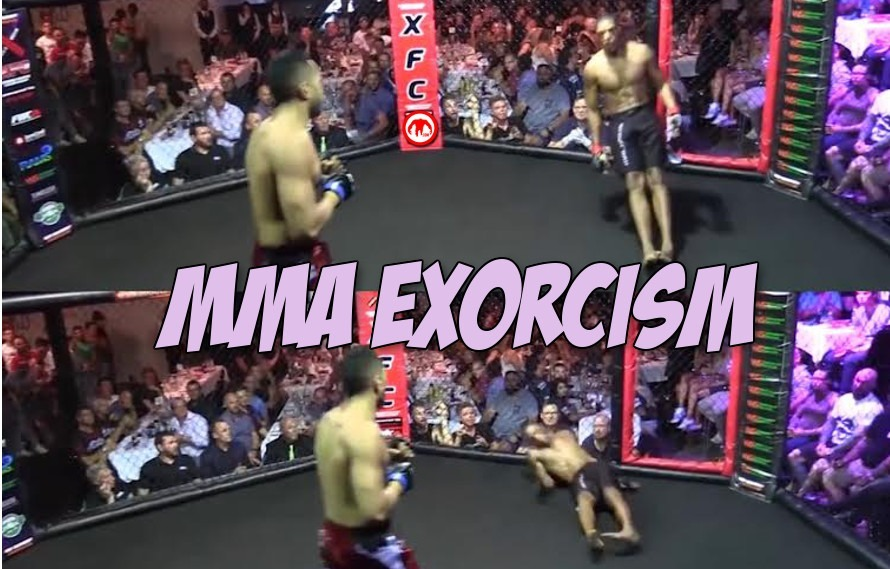 Replay: WTF. Meanwhile in Australia, fighters are collapsing in the cage untouched and losing by TKO