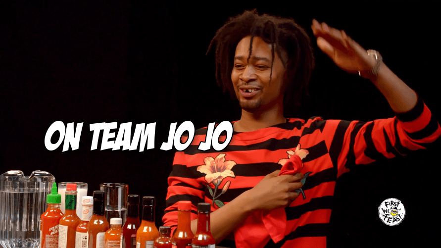 Watch our fav rapper Danny Brown name his fav UFC fighters while he eats hot wings