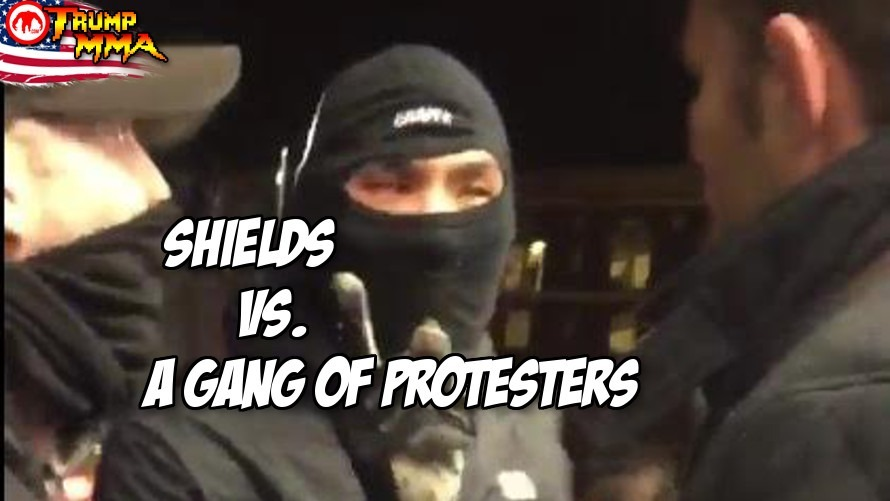 Video: MMA's Jake Shields saves a dude getting jumped at a rioting, tear gassed filled protest