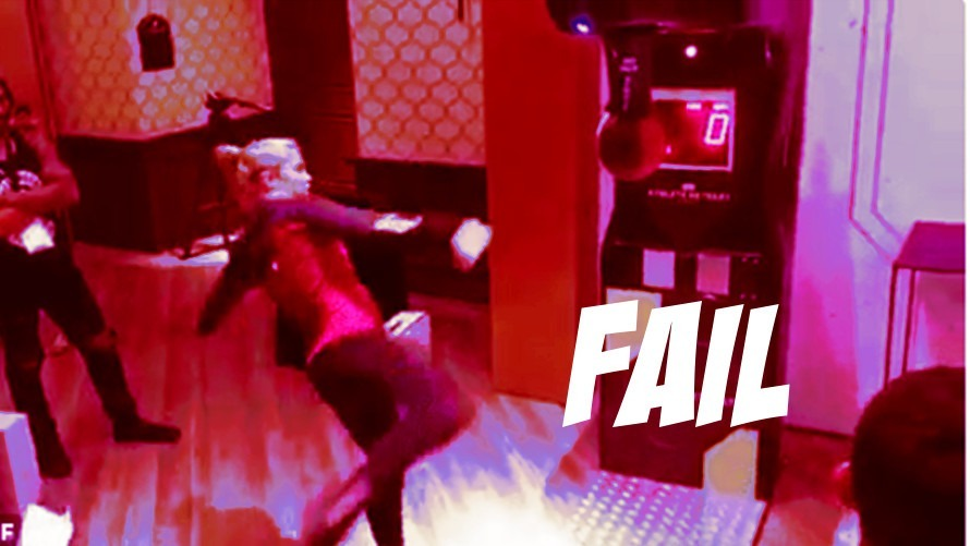 Video: Paige VanZant Spinning Kick Fail