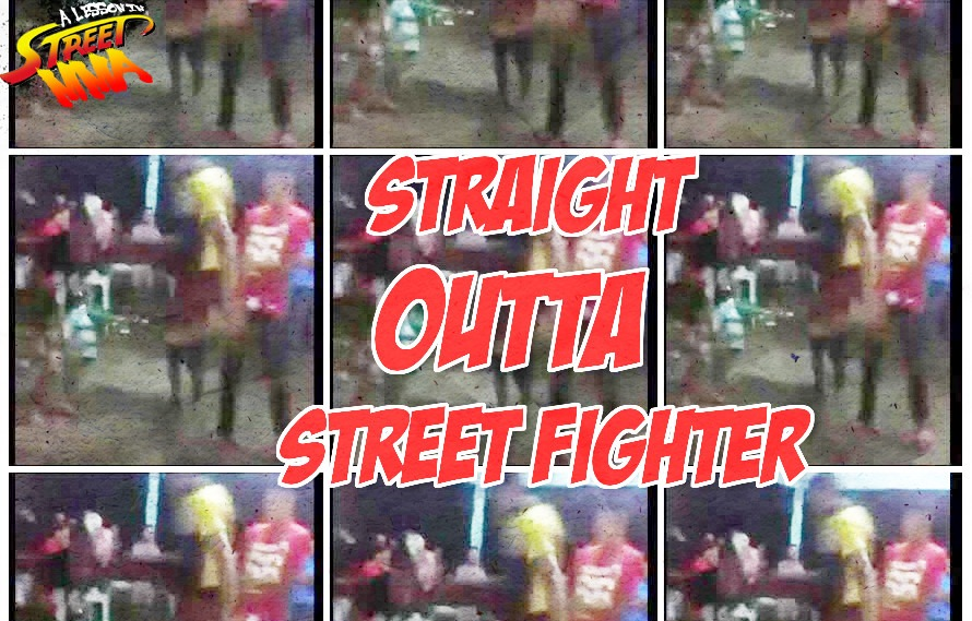 A Lesson in Street MMA: Out of nowhere! Flying drop kick