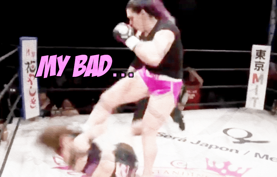 Replay: Gabi Garcia absolutely KO'd her 5'3 opponent with a soccer kick to the face today in Japan