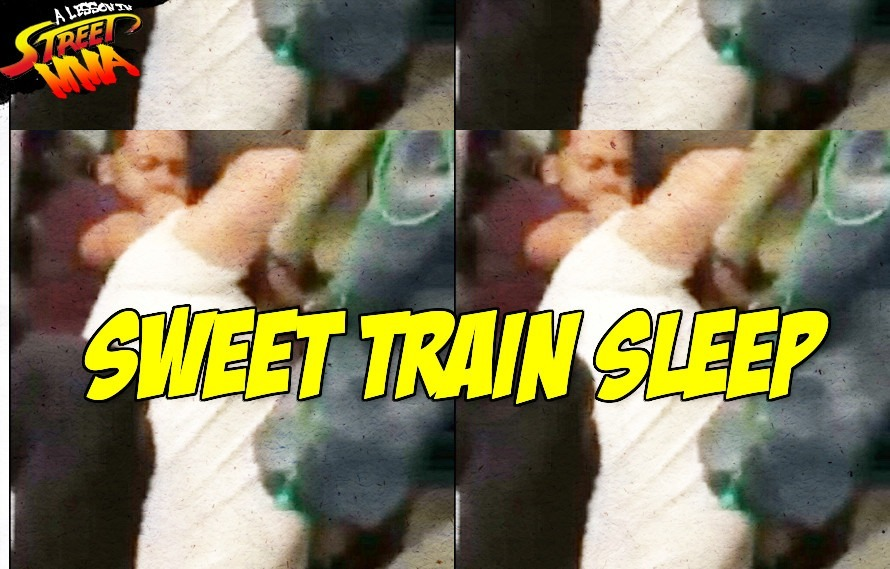 A Lesson in Subway MMA: A single rear naked choke puts him to sleep, lets you make your stop