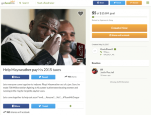 HILARIOUS FAN CREATED A GOFUNDME TO PAY FLOYD MAYWEATHER'S ...