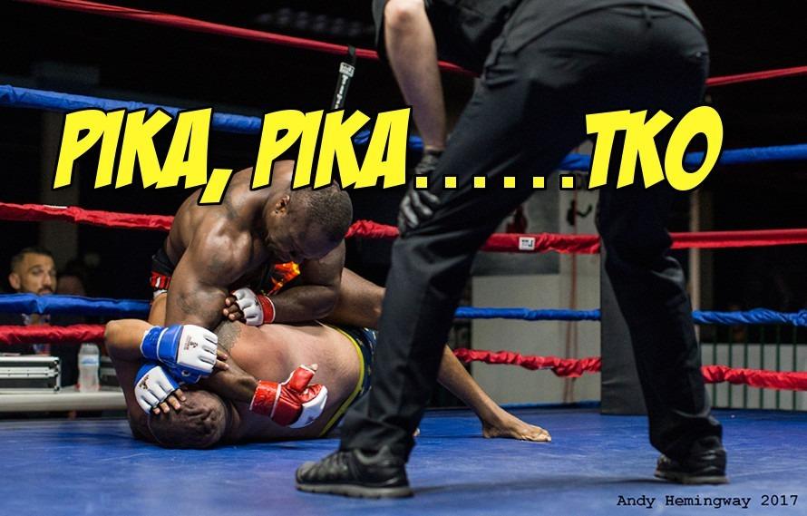 Video: Happy Super-heavyweight wears Pikachu underwear to MMA fight, immediately loses fight