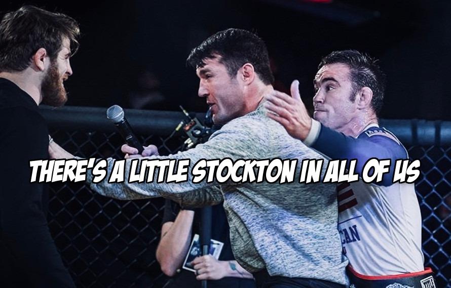 Video: After grappling match Jake Shields tries to slap AJ Agazarm, hits Chael Sonnen instead