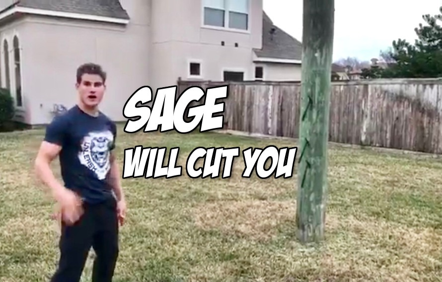 Video: Somebody bought Sage Northcutt throwing axes for Christmas
