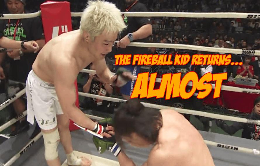 Takanori Gomi, The Fireball Kid Once Again (Briefly)