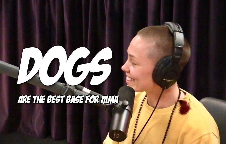 Video: Rose Namajunas tells Joe Rogan an amazing story about training MMA with her dog