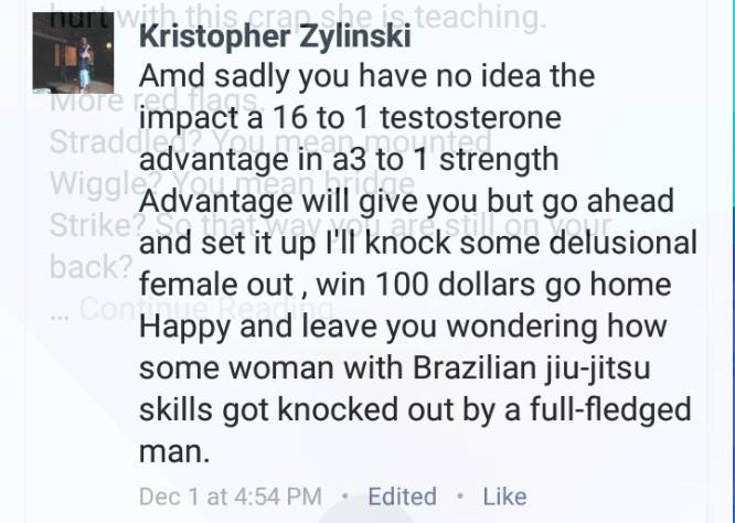 kristopher-5 The Inter-gender Fight of the Year Cancelled, Women's MM Pioneer Tara LaRosa vs. Some Internet Troll to Be Rescheduled