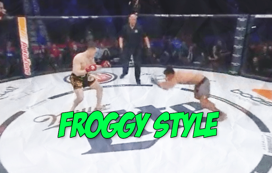Still watching this GIF of the Bellator fighter who began his fight hopping like a frog