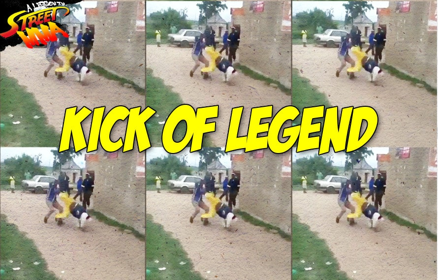 A Lesson in Street MMA: Our hero pulls off a Jet Li style flip kick, soccer kick in a real fight