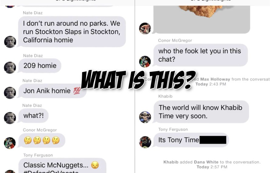 Watch: The UFC really did try to promote UFC 223 with a fake Conor and Nate text exchange