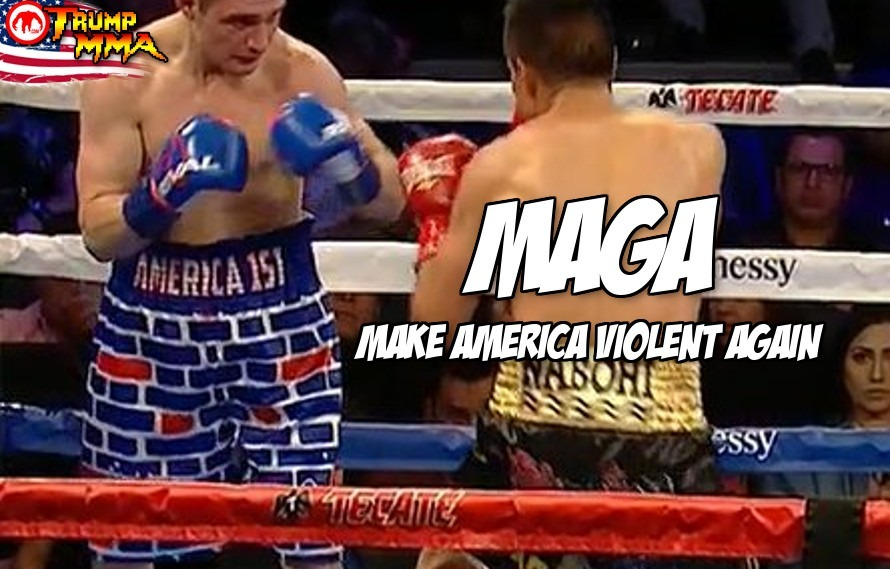 Boxer taunts Mexican opponent with pro-Trump trunks-gets knocked out