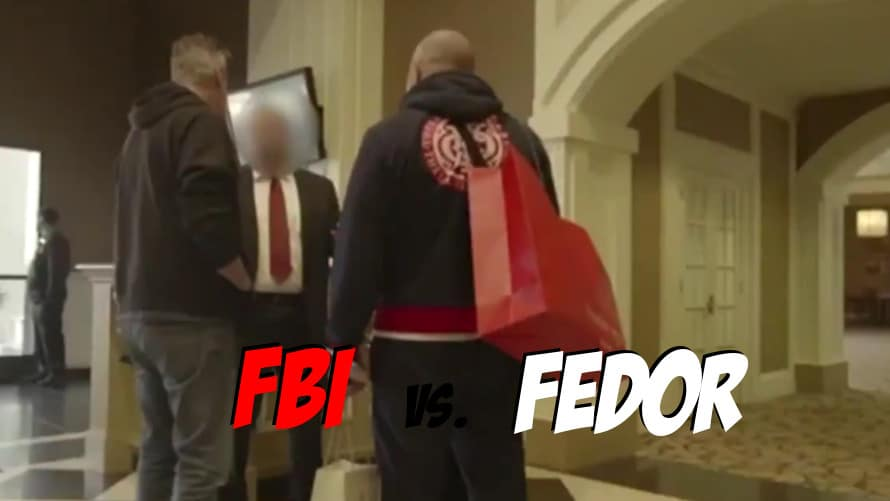 Video: Fedor Emelianenko Gets Questioned by FBI Agents in a Hotel Lobby
