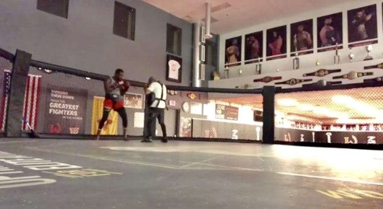 This video of Jon Jones training at midnight in an empty gym is kind of sad