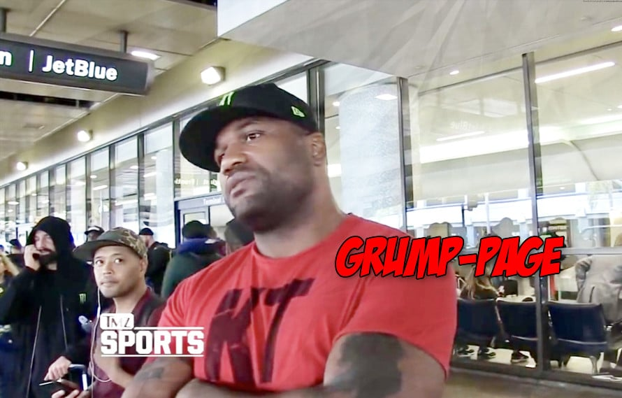 Watch: Rampage Jackson is really irritated with questions about a fight with 50 Cent