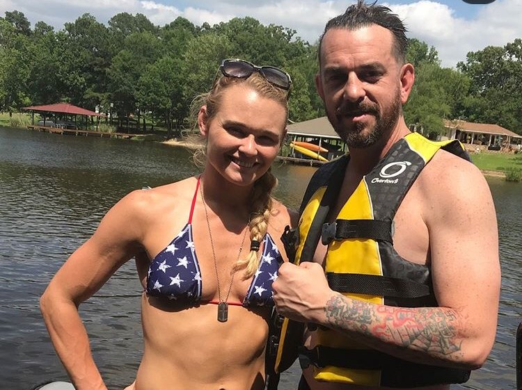 Dey23eoVMAANuDo-1 Andrea Lee's Husband & Coach Donny Aaron Has Nazi Tattoos, Says Removing Them Is Impossible, Also He Once Killed a Black Man in His Driveway