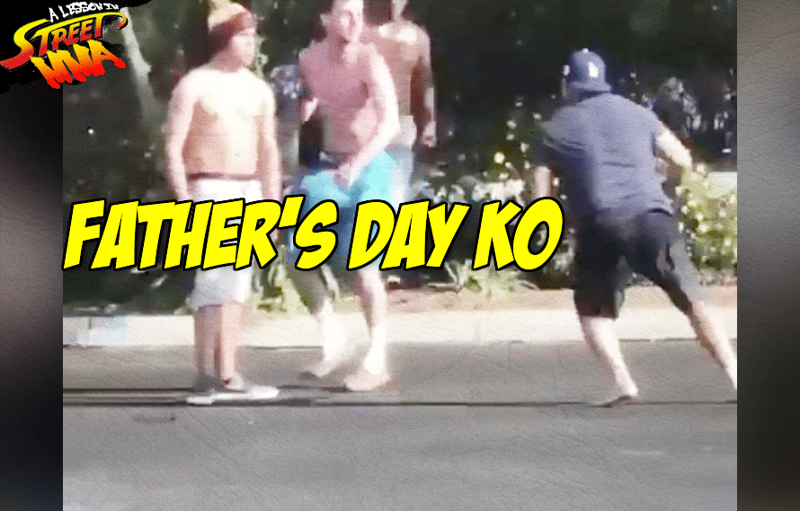 A Lesson in Street MMA: A backwards hat takes away all your old man strength, gets you KO'd