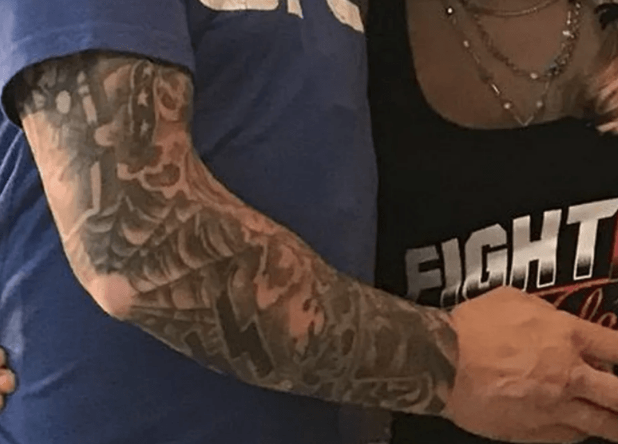 Screenshot-2018-06-03-at-5.04.07-PM Andrea Lee's Husband & Coach Donny Aaron Has Nazi Tattoos, Says Removing Them Is Impossible, Also He Once Killed a Black Man in His Driveway