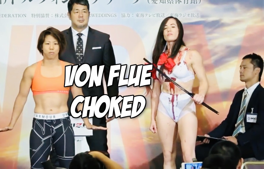 Replay Kanako Murata Chokes Out Angela Magana At Rizin 12